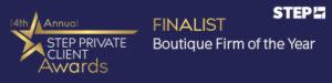 STEP Boutique Firm Finalist 2019